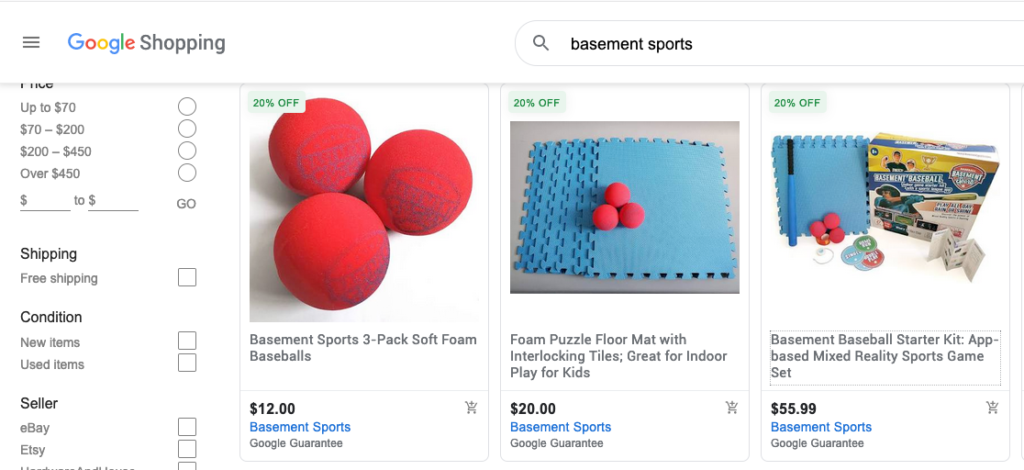 Basement Sports Products at Buy on Google